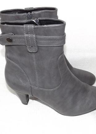 Ботинки, полусапоги женские серые на не большом каблуке 39 размер