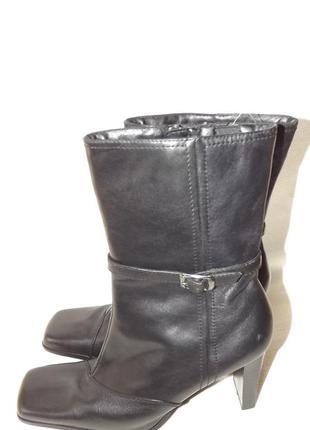 Ботинки, сапоги чёрные женские кожаные 41 размер