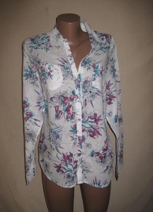 Льняная блуза спенсер р-р14,