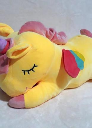 Игрушка подушка плед  единорог