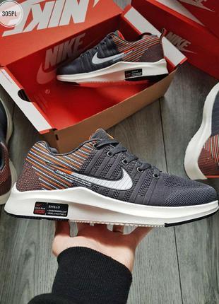 Nike run z00m grey, мужские беговые кроссовки найк зум серые, ...