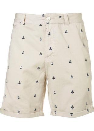 Стильные шорты topman ® cream anchor размер: 34-l