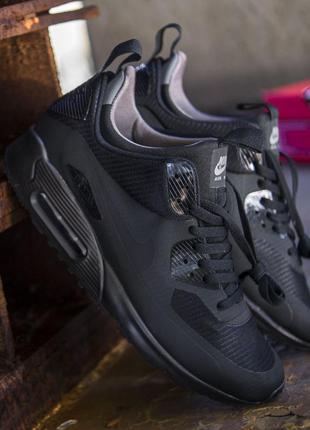 Мужские кроссовки найк аир макс, черные nike air max 90 black