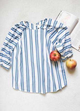 Блузочка с объемными рукавами от h&m, размер m-l