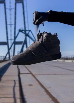Кроссовки мужские адидас, высокие серые adidas tubular winter ...