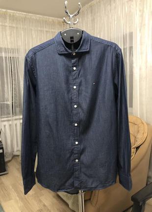 Джинсовая рубашка tommy hilfiger, новая!
