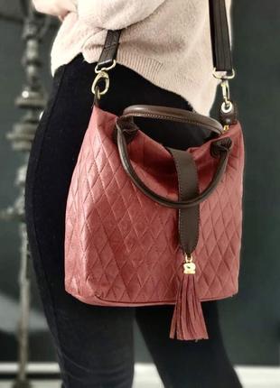 Genuine leather. сумка из натуральной кожи.