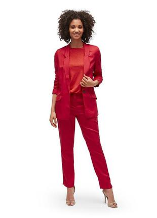 Крутий костюм tom tailor naomi campbell червоний оверсайз красный