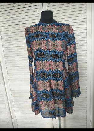 Плаття в принт izabel london шифонове платье asos