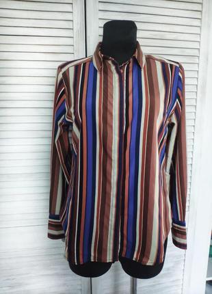 Блуза сорочка в полоску amisu new yorker рубашка