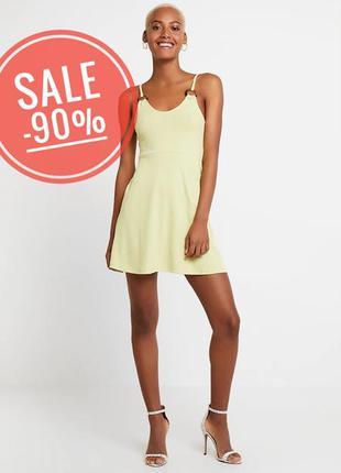 Круте плаття topshop платье в рубчик лайм