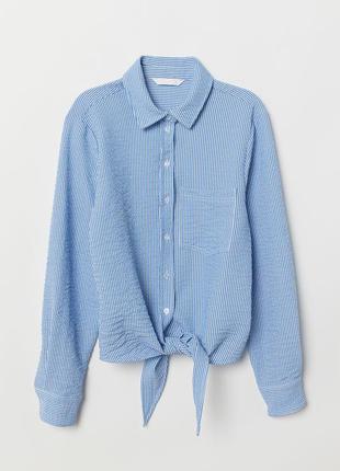 Сорочка в полоску h&m рубашка завязка