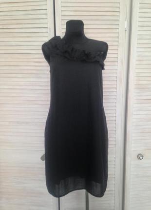 Трендове плаття на одне плече з рюшами dkny jeans donna karan ...