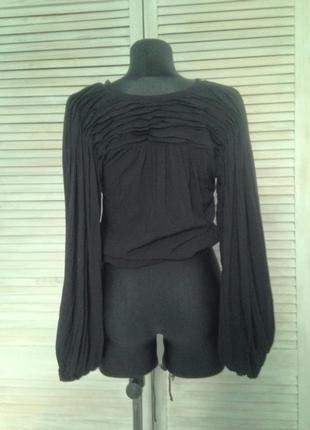 Блуза укорочена h&m тренд кроп рукава фонарики