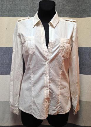 Сорочка в полосочку mango рубашка полоска принт