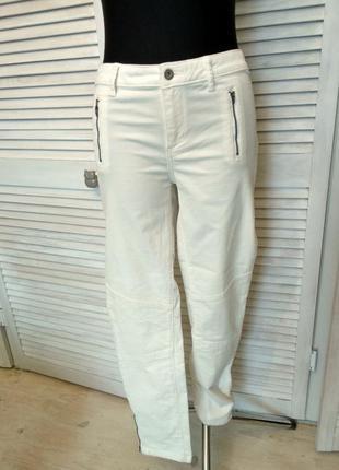 Вельветові брюки maddison білі прямі штани вельвет