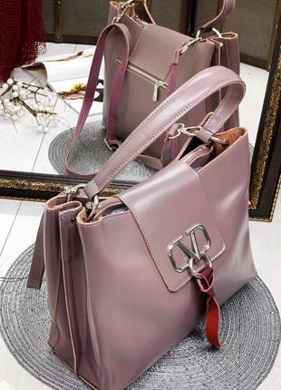 Женская кожаная сумка в стиле valentino валентино   в расцветках