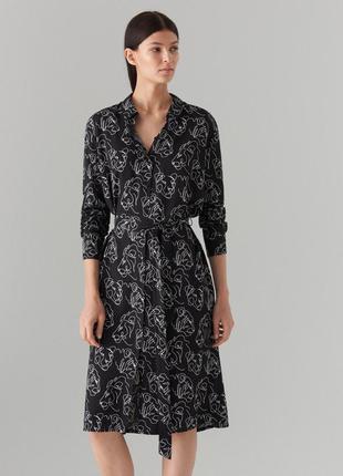 Актуальное платье рубашка из вискозы
