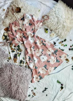 Платье цвета пыльной розы