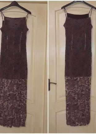 Красивое платье сарафан прозрачная юбка