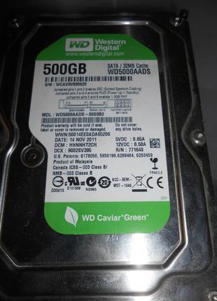 Жесткие диски для ПК Western Digital 500 gb WD5000AADS
