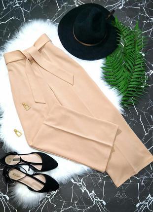 Широкие брюки кюлоты штаны плаццо с поясом скидка до 23.02.