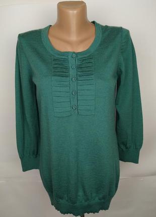Кофта джемпер свитер красивый шерстяной зеленый boden uk 12/40/m