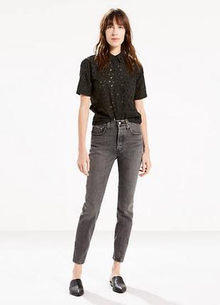 Джинсы черные levis 501® skinny jeans