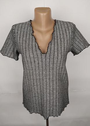Блуза кофточка топ стильная серебристая красивая zara uk 12/40/m
