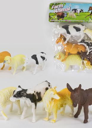 Набор животных Ферма 7 шт. в кульке