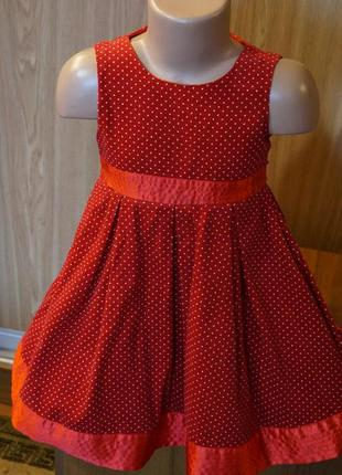 Классное платье в мелкий горошек