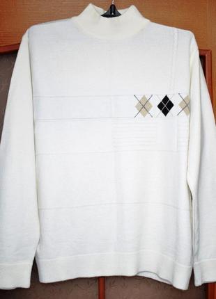 Мужской свитер овечья шерсть giorgio bellini размер l