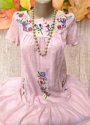Новое домашнее платье, или ночная рубашка, хлопок с вышивкой, ...
