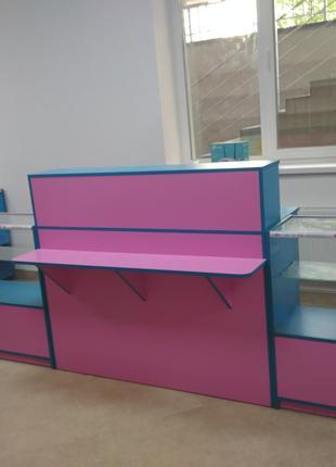 Мебель для магазинов. Витрины, прилавки, стеллажи. Изготовим быст