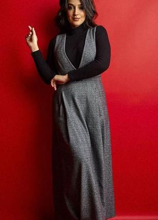 Шикарное макси платье сарафан двойка большие размеры