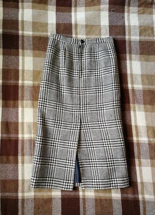 Юбка удлинённый карандаш из тёплой плотной шерсти