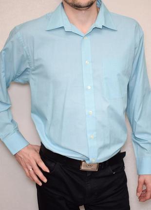 Мужская оригинальная рубашка bhs нежного голубого цвета длинны...