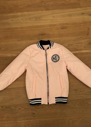 Демисезонная куртка-бомбер на девочку