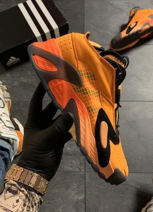 Adidas streetball orange black кроссовки мужские адидас