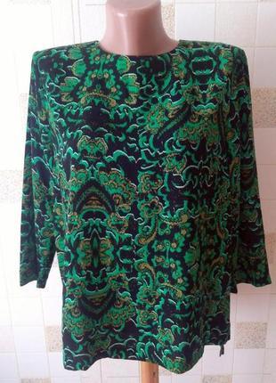 Супер блуза черно-зеленого цвета h&m
