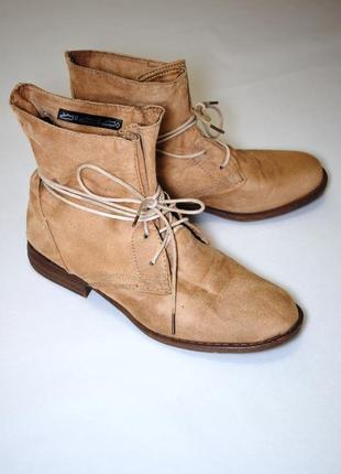 Женские ботинки полусапожки необычного фасона 41 размер