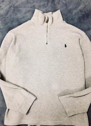 Мужской свитер / реглан с воротником / кофта ralph lauren xxxl