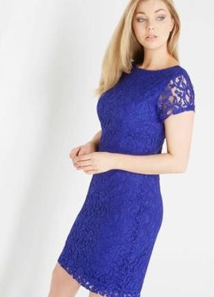 Кружевное вечернее ажурное платье с v вырезом на спине р. xl