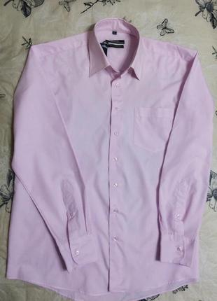 Мужская рубашка magic нежно-розового цвета длинный рукав