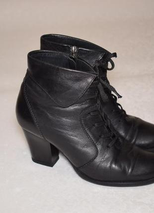 Кожаные женские ботинки ботильоны размер 40