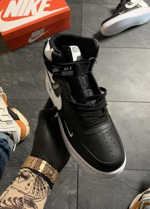Nike air force high black white