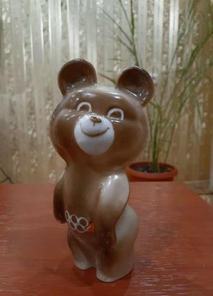 Мишка олимпийский, статуэтка фарфоровая барановка, ссср