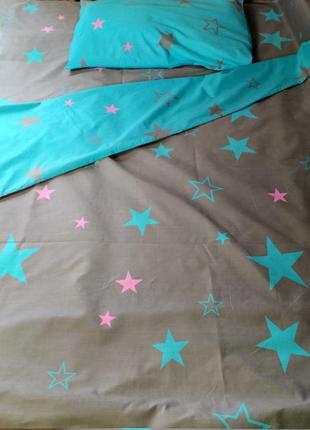 Двуспальный постельный комплект из плотной пакистанской бязи g...