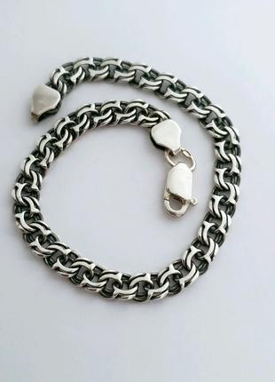 Серебряный мужской браслет,  серебро 925 проба