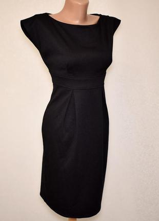 Черное платье футляр petite,размер xxs